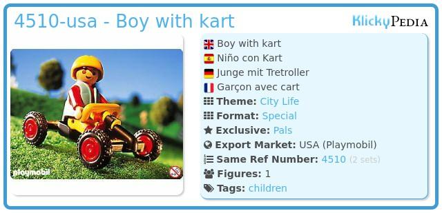 Playmobil 4510-usa - Boy with kart