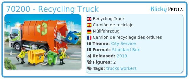 Playmobil 70200 - Müllfahrzeug