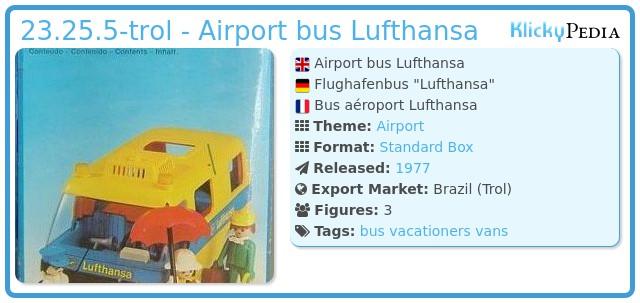 Playmobil 23.25.5-trol - Airport bus Lufthansa