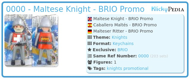 Playmobil 0000 - Maltese Knight - BRIO Promo