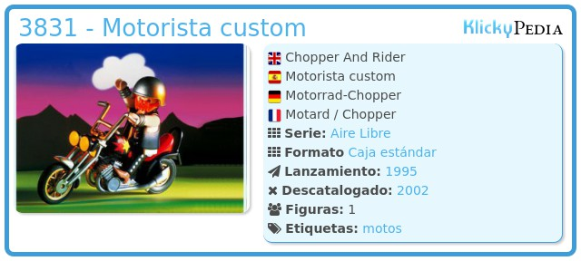 Playmobil 3831 - Motorista custom