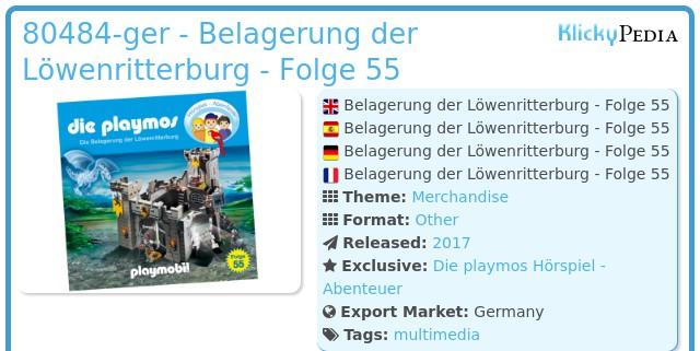 Playmobil 80484-ger - Belagerung der Löwenritterburg - Folge 55