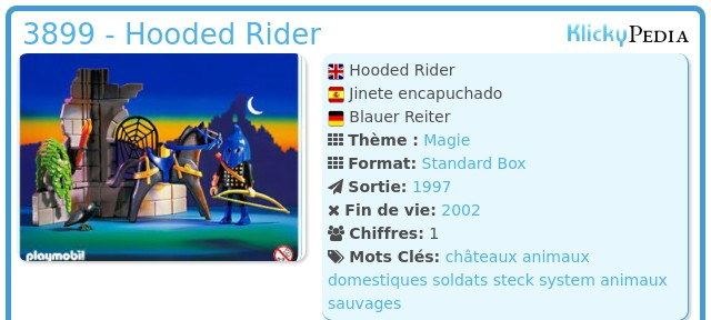 Playmobil 3899 - Hooded Rider