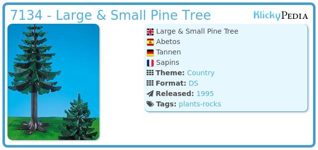 Playmobil 7134 - Large & Small Pine Tree