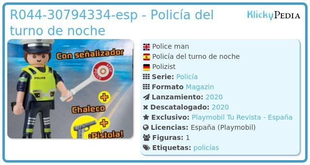 Playmobil R044-30794334 - Policía
