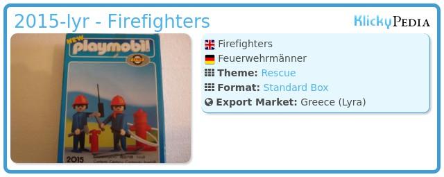 Playmobil 2015-lyr - Firefighters