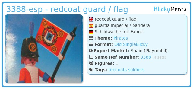 Playmobil 3388-esp - redcoat guard / flag