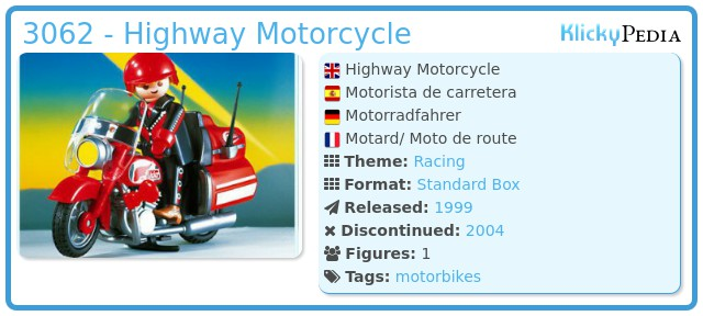 Playmobil 3062 - Highway Motorcycle