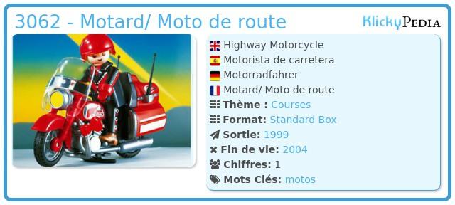 Playmobil 3062 - Highway Motorcycle