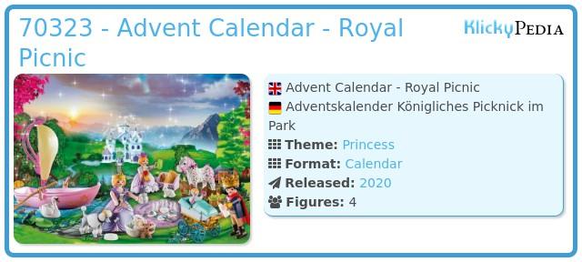 Playmobil 70323 - Advent Calendar Royal Picnic