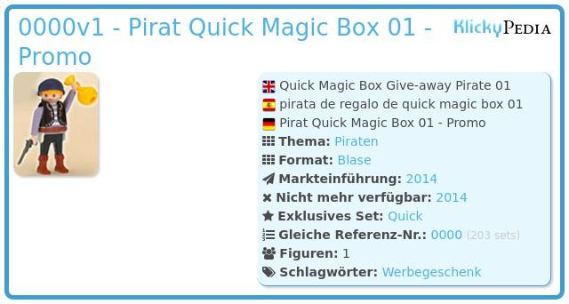 Playmobil 0000v1 - Pirat Quick Magic Box 01 - Promo