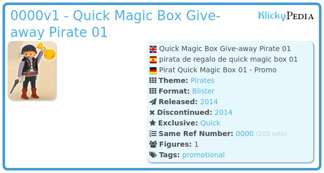 Playmobil 0000v1 - Quick Magic Box Give-away Pirate 01