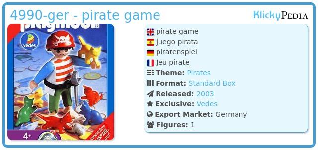 Playmobil 4990-ger - pirate game