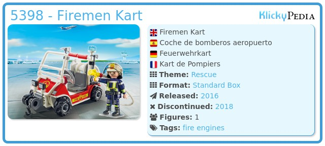 Playmobil 5398 - Firemen Kart