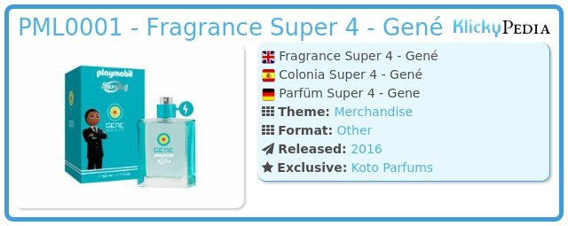 Playmobil 00000 - Fragrance Super 4 - Gené