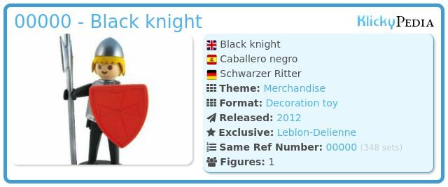 Playmobil 00000 - Black knight