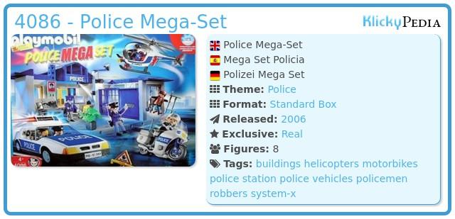 Playmobil 4086 - Police Mega-Set