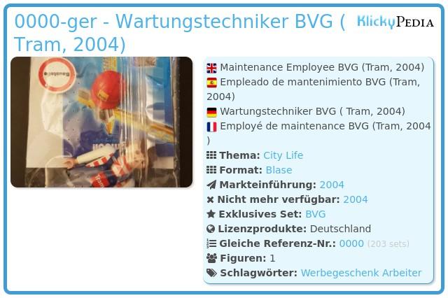 Playmobil 0000-ger - Wartungstechniker BVG ( Tram, 2004)