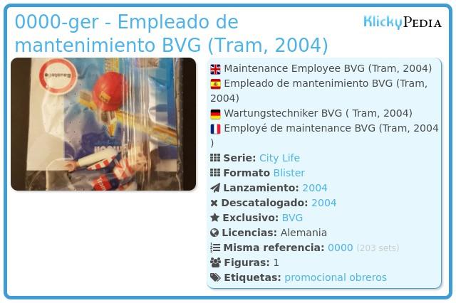 Playmobil 0000-ger - Empleado de mantenimiento BVG (Tram, 2004)