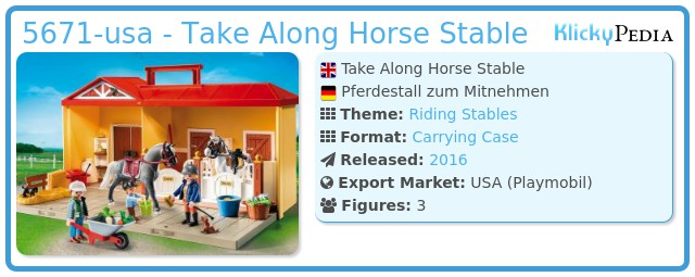 Playmobil 5671-usa - Take Along Horse Stable