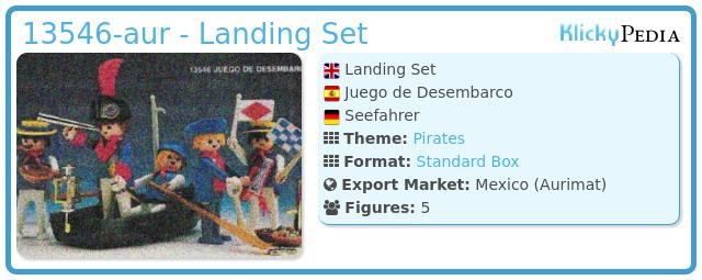 Playmobil 13546-aur - Landing Set