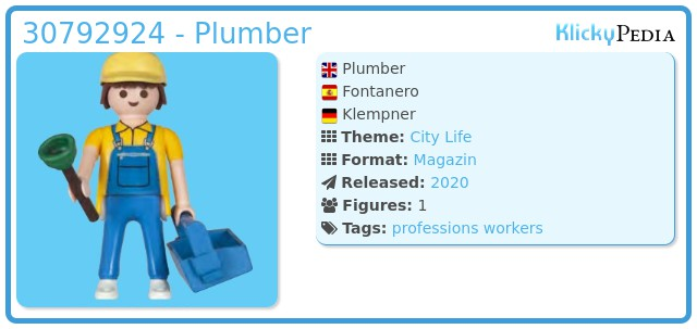 Playmobil 30792924 - Plumber