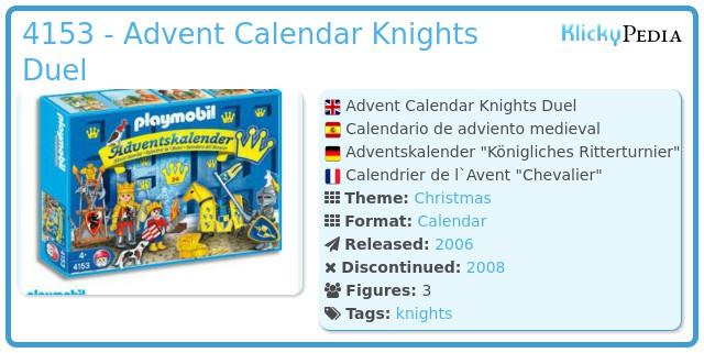 Playmobil 4153 - Advent Calendar Knights Duel