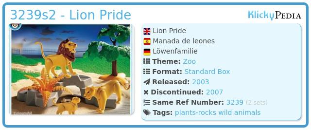 Playmobil 3239s2 - Lion Pride