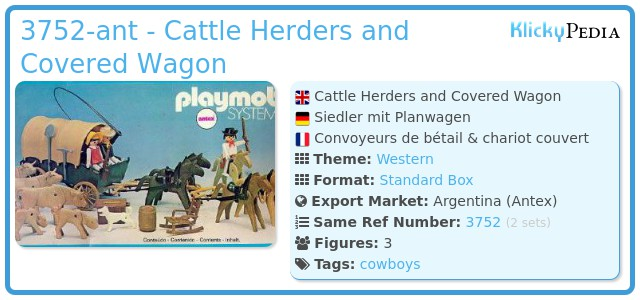 Playmobil 3752-ant - Cattle Herders and Covered Wagon