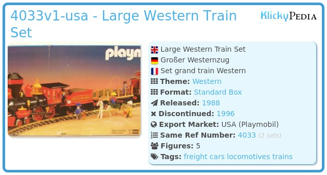 Playmobil 4033v1-usa - Large Western Train Set