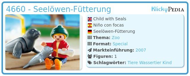 Playmobil 4660 - Seelöwen-Fütterung