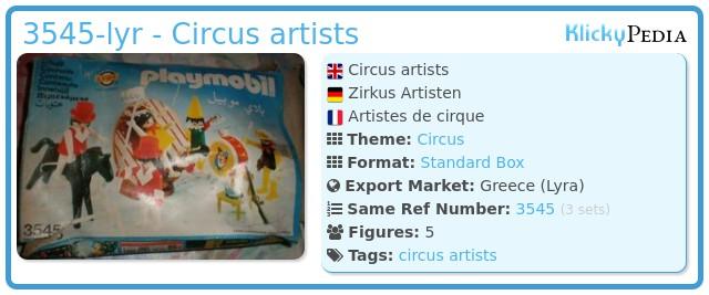Playmobil 3545-lyr - Circus artists