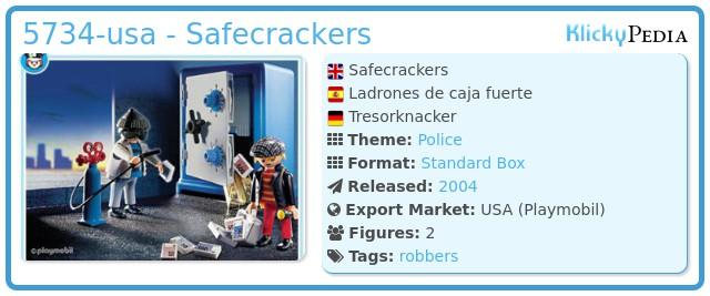 Playmobil 5734-usa - Safecrackers