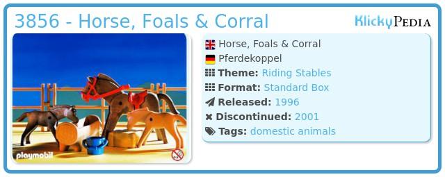 Playmobil 3856 - Horse, Foals & Corral