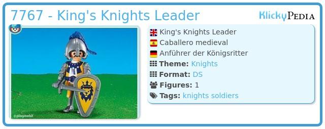 Playmobil 7767 - Kings Knights Leader