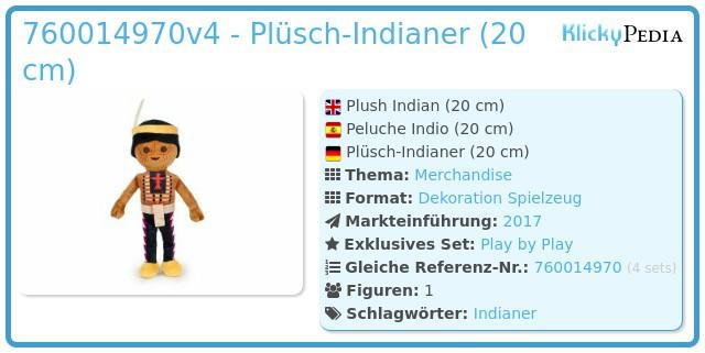 Playmobil 00000 - Plüsch Indianer (20cm)