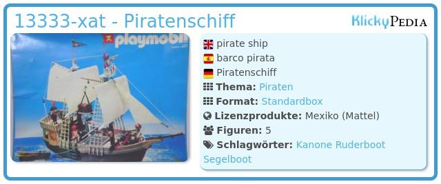Playmobil 13333-xat - Piratenschiff