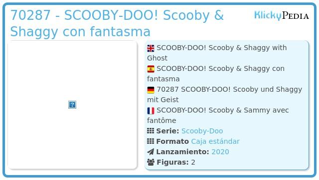 Playmobil 70287 - SCOOBY-DOO! Scooby & Shaggy con fantasma