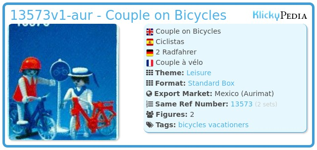 Playmobil 13573v1-aur - Couple on Bicycles