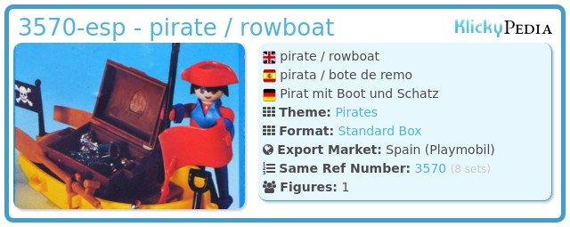 Playmobil 3570-esp - pirate / rowboat