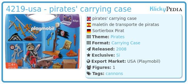 Playmobil 4219-usa - pirates' carrying case