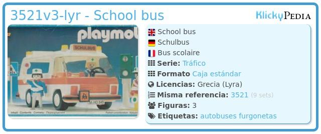 Playmobil 3521v1-lyr - School bus