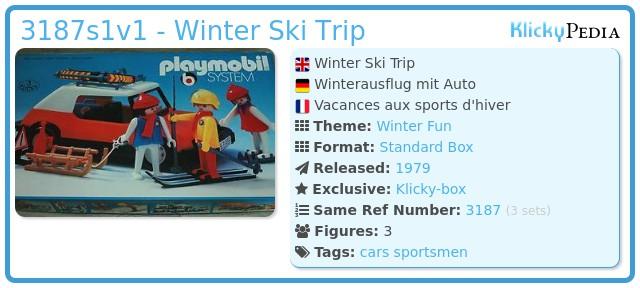 Playmobil 3187s1v1 - Winter Ski Trip