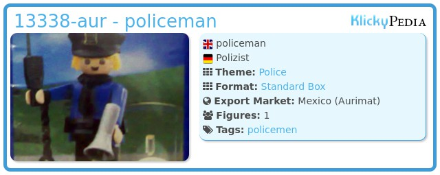 Playmobil 13338-aur - policeman