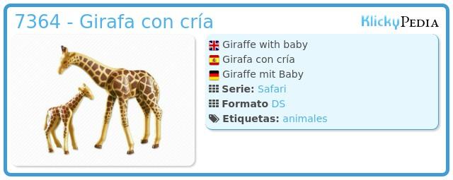 Playmobil 7364 - Girafa con cría