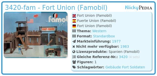 Playmobil 3420-fam - Fort Union