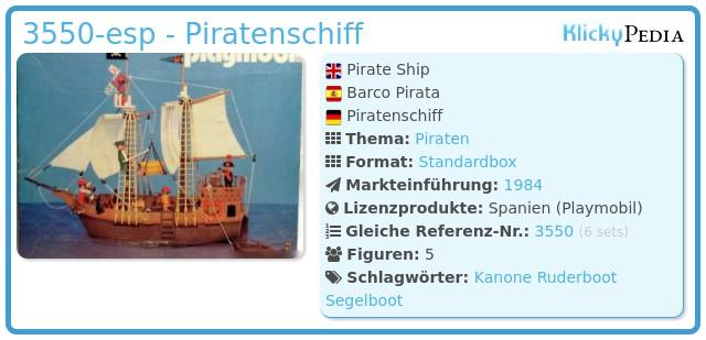 Playmobil 3550-esp - Piratenschiff