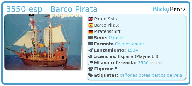 Playmobil 3550-esp - Barco Pirata