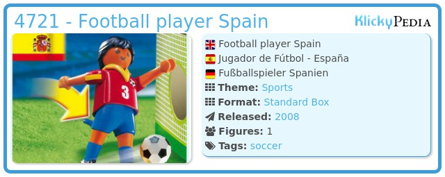Playmobil 4721 - Football player Spain