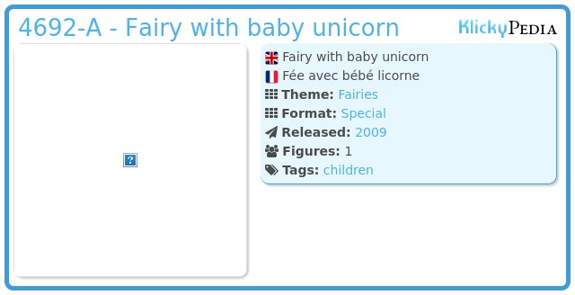 Playmobil 4692-A - Fairy with baby unicorn